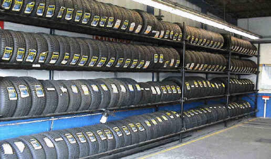 100's of tyres are always in stock